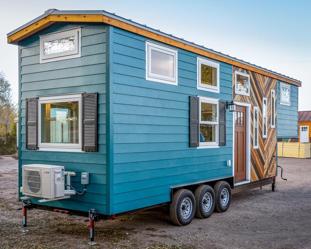 Blue Exterior - Nicole's Tiny House by MitchCraft Tiny Homes
