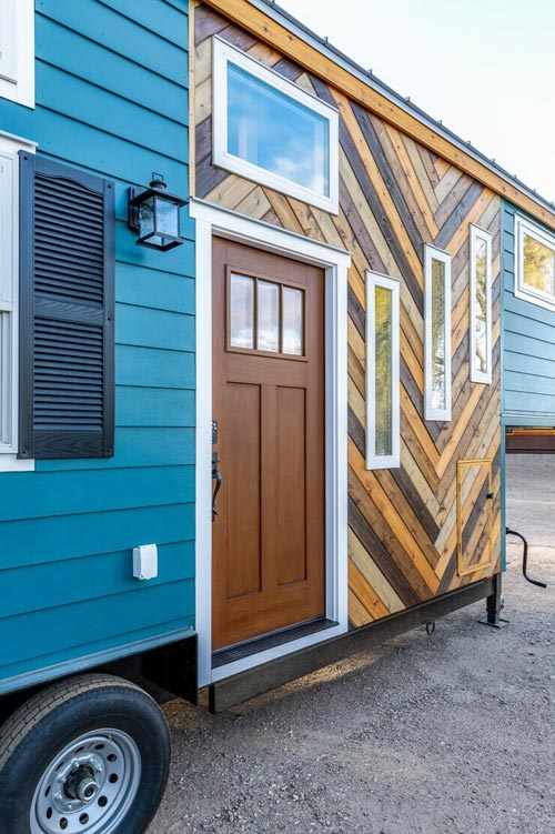 Herringbone Pattern - Nicole's Tiny House by MitchCraft Tiny Homes