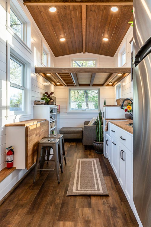 Kitchen & Table - Nicole's Tiny House by MitchCraft Tiny Homes