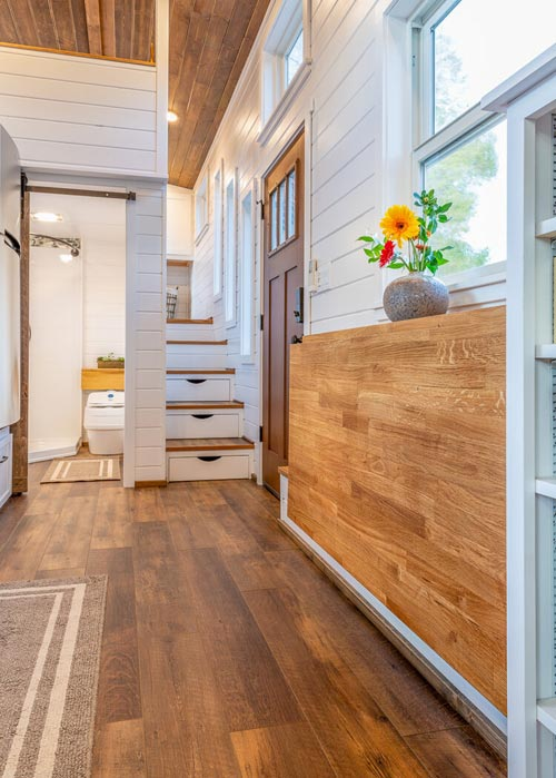 Fold Down Table - Nicole's Tiny House by MitchCraft Tiny Homes