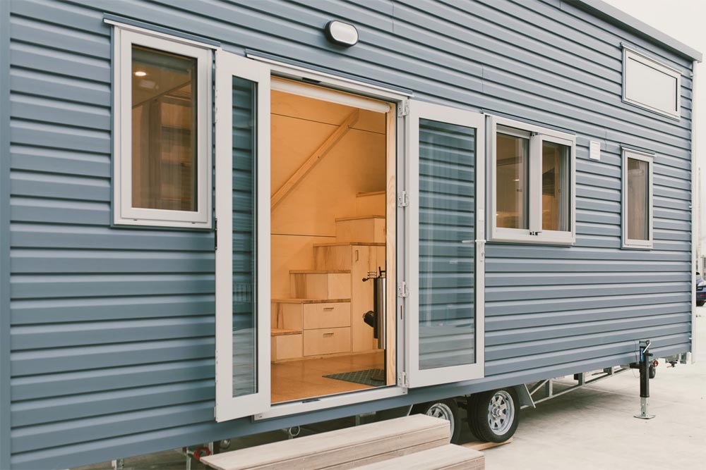 Double Door Entry - Sonnenschein Tiny House by Build Tiny