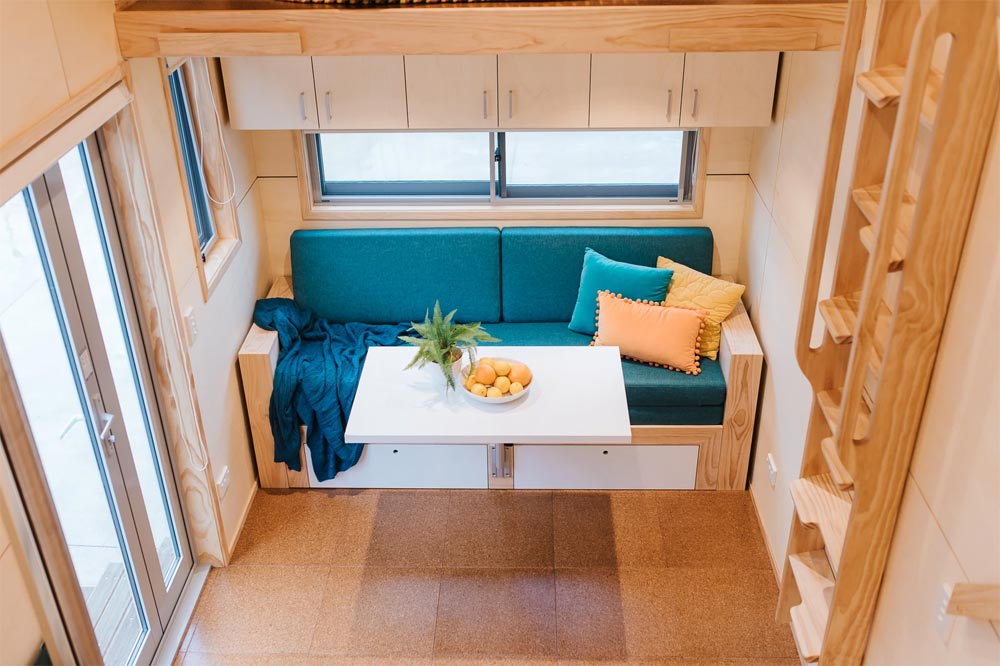 Custom Couch - Sonnenschein Tiny House by Build Tiny