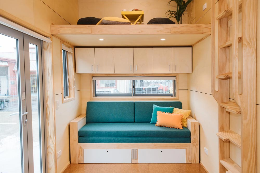 Storage Above Couch - Sonnenschein Tiny House by Build Tiny