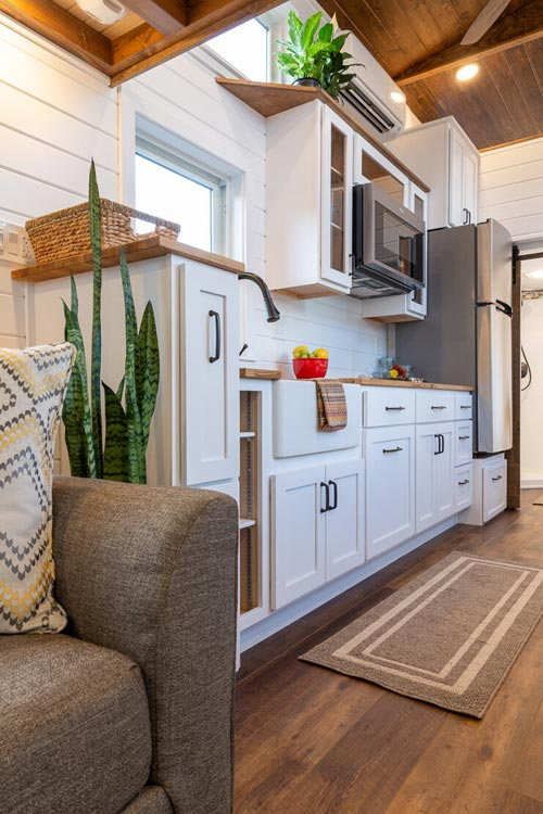 Kitchen Cabinets - Nicole's Tiny House by MitchCraft Tiny Homes