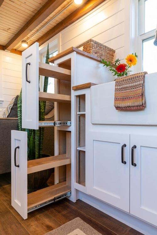 Storage - Nicole's Tiny House by MitchCraft Tiny Homes