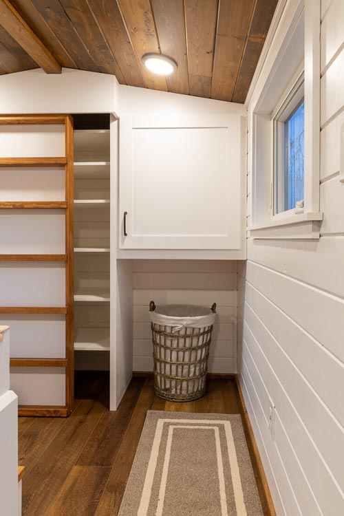 Bedroom Storage - Nicole's Tiny House by MitchCraft Tiny Homes
