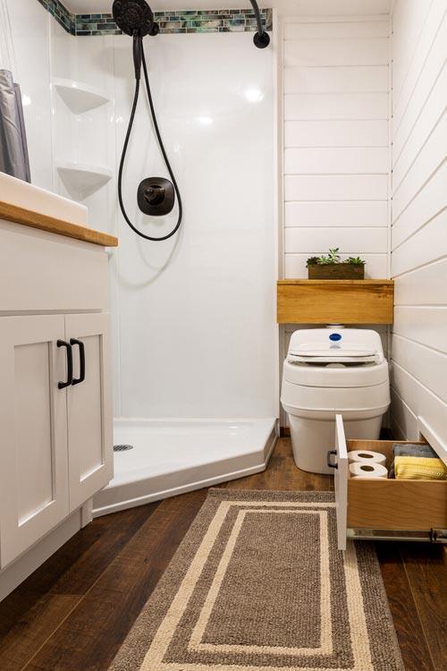 Bathroom - Nicole's Tiny House by MitchCraft Tiny Homes