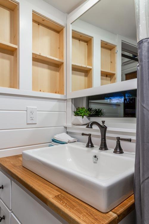 Bathroom Sink - Nicole's Tiny House by MitchCraft Tiny Homes