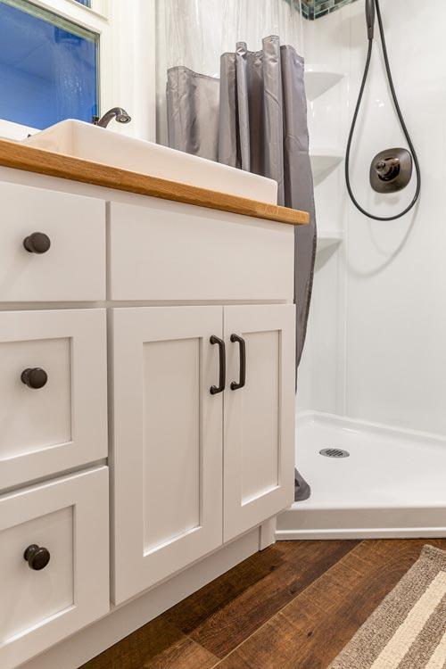 Bathroom Vanity - Nicole's Tiny House by MitchCraft Tiny Homes
