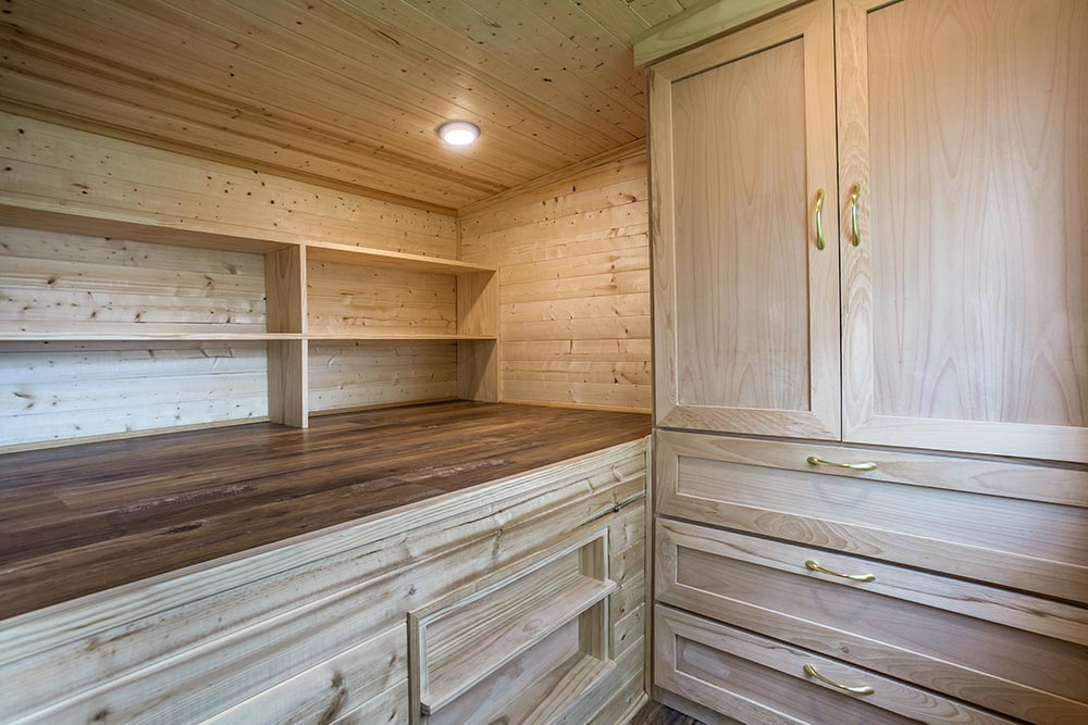 Bedroom w/ Wardrobe - Origin by Indigo River Tiny Homes