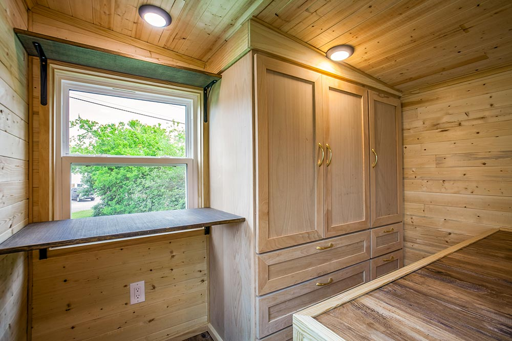 Desk in Bedroom - Origin by Indigo River Tiny Homes